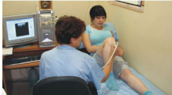 процедура УЗ-исследования коленного сустава