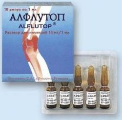 хондропротектор Алфлутоп назначается в уколах