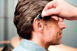 Наличие слухового аппарата