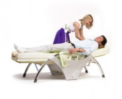 массаж лежа на спине