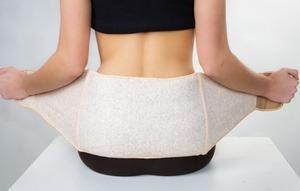 изделие, обеспечивающее постоянный нагрев болезненного участка спины